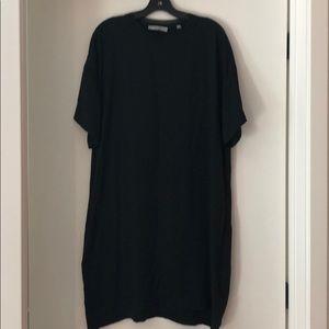 Vince Silk T Shirt Dress